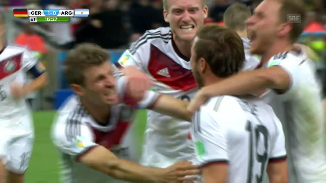 Mario Götzes 1:0 gegen Argentinien