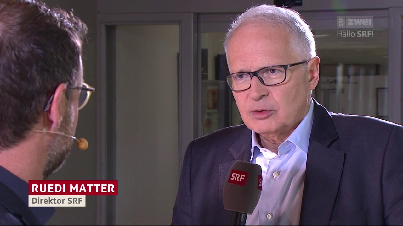 Der Medienkonsum von SRF Direktor Ruedi Matter