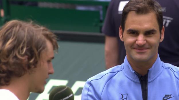 Video «Zverev: «Roger spielt Wahnsinnstennis»» abspielen