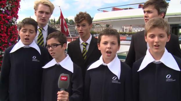 Video «Die Luzerner Kantorei mit «Viele verachten die edle Musik»» abspielen