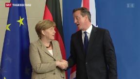 Video «Merkel und Cameron betonen Reformbedarf der EU» abspielen