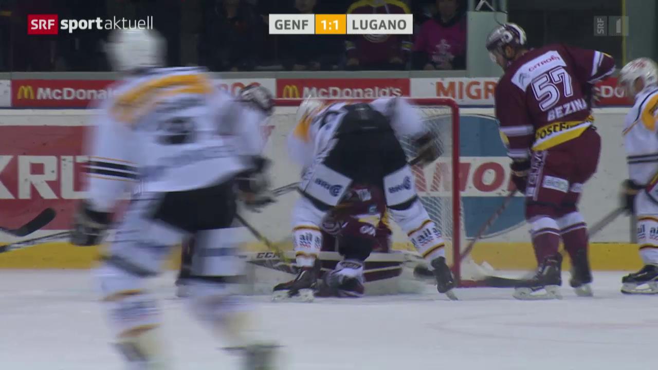 Eishockey: NLA, Genf-Lugano
