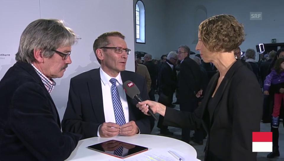Pirmin Bischof CVP und Roberto Zanetti SP im Gespräch