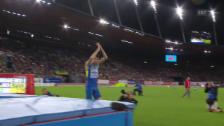 Video «Leichtathletik-EM: Bondarenkos Siegsprung» abspielen
