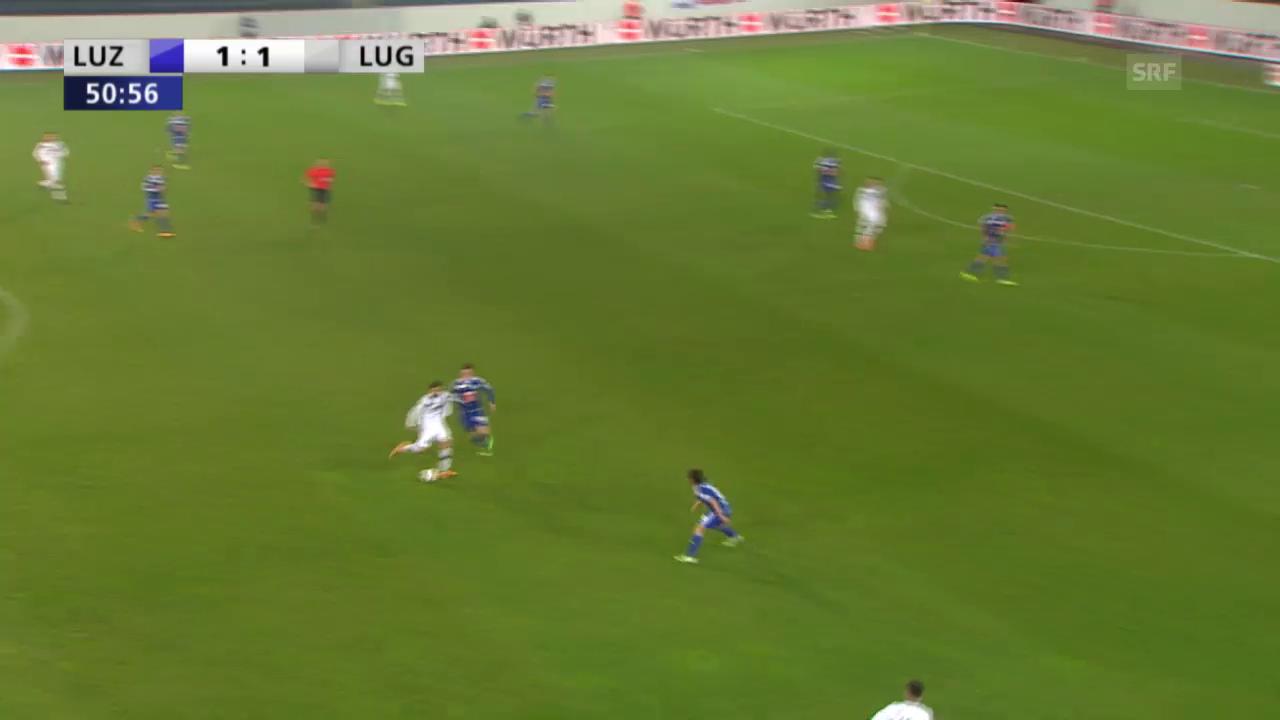 Donis erzielt das 2:1 für Lugano
