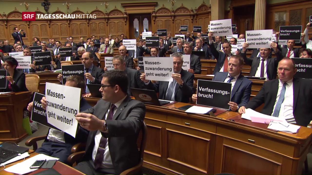 Schlussabstimmung zur Masseneinwanderungs-Initiative