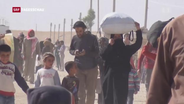 Video «Gefährliche Flucht aus Mossul» abspielen
