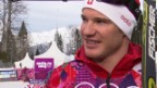 Video «Langlauf: Siegerinterview mit Dario Cologna (sotschi direkt, 14.02.14)» abspielen