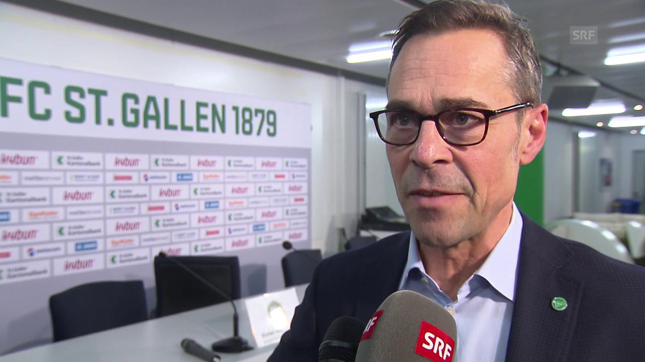 Matthias Hüppi über die Verpflichtung von Alain Sutter