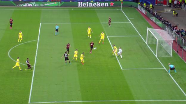 Video «Fussball: CL, Tor Admir Mehmedi Leverkusen - BATE» abspielen