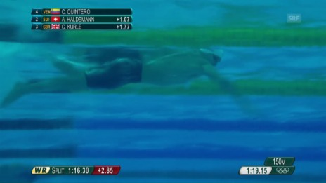 Video «Haldemanns Auftritt im 200-m-Crawl» abspielen