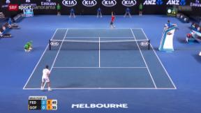 Video «Tennis: Federer siegt im Eilzugtempo» abspielen