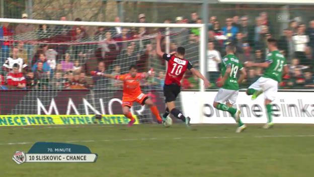 Video «Fussball: Super League, Aarau - FCSG verpasste Chancen» abspielen