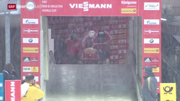 Video «Bob: Weltcup in Königssee, Zweierbob» abspielen