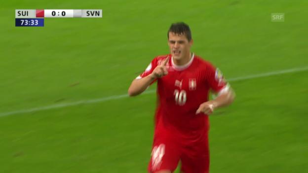 Video «Fussball: Highlights Schweiz - Slowenien («sportlive»)» abspielen