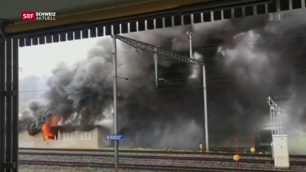 Grossbrand in Kerzenfabrik
