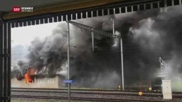 Video «Grossbrand in Kerzenfabrik» abspielen