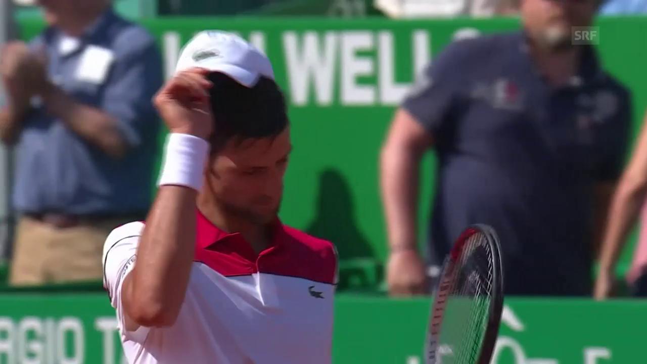 Djokovic muss sich Thiem geschlagen geben.