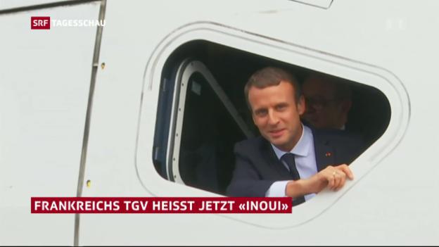 Video «Eröffnung mit Macron im Fürherstand» abspielen