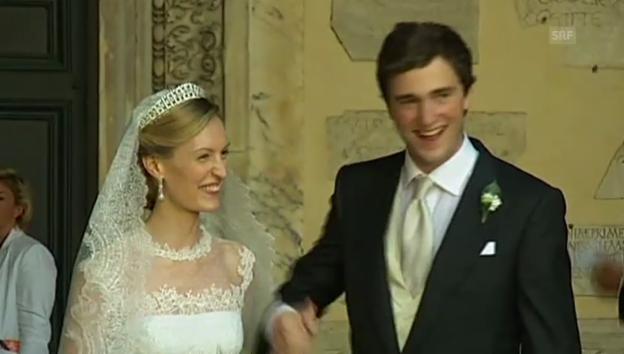 Video «Hochzeit Prinz Amedeo (unkommentiertes Video)» abspielen