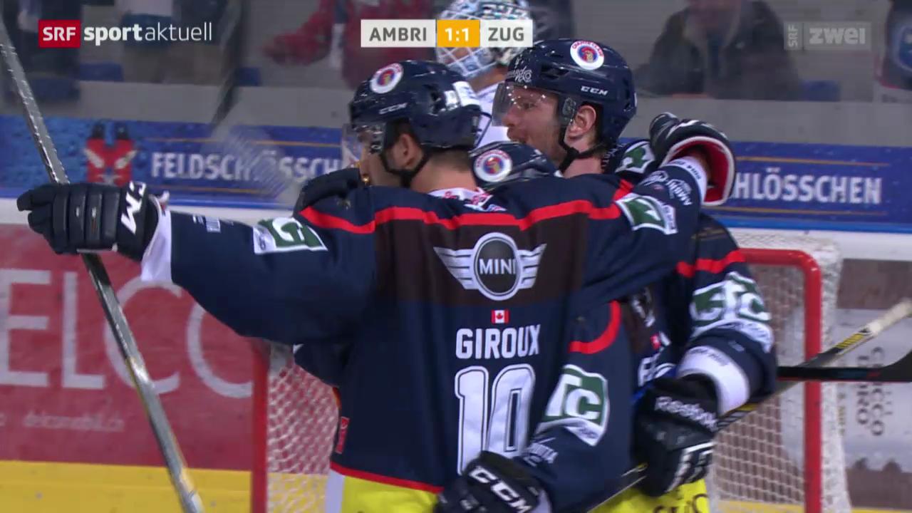 Eishockey: NLA, Ambri-Piotta - EV Zug