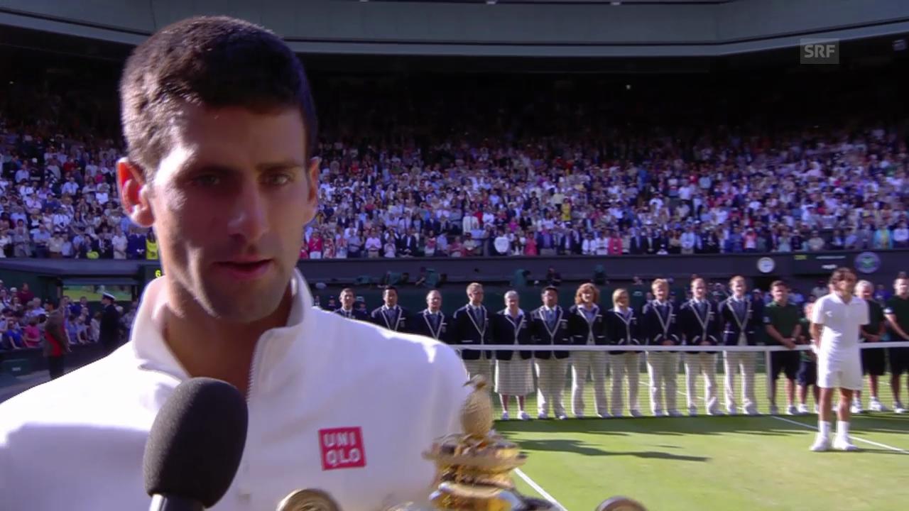 Tennis: Wimbledon, Interview mit Novak Djokovic