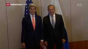 Video «Syriengespräche – John Kerry und Sergej Lawrow in Genf» abspielen