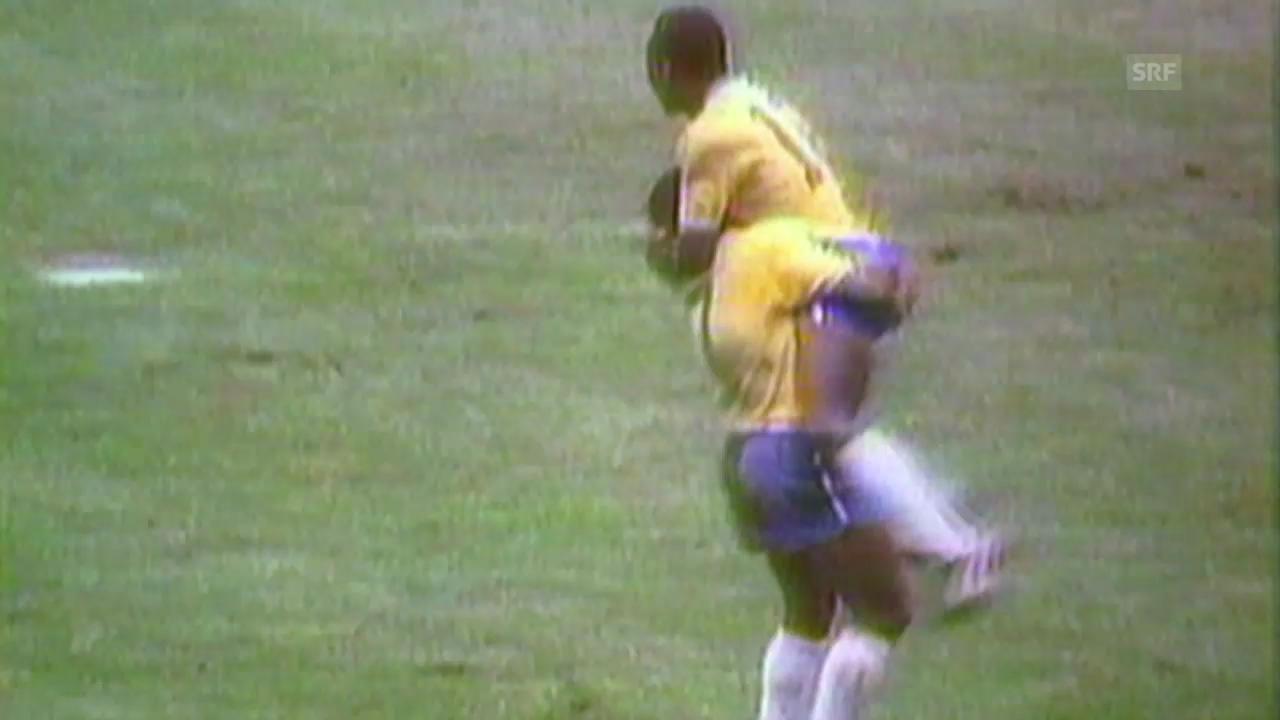 Fussball: Peles Tor zum 1:0 im WM-Final 1970