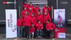 Video «Paralympics: Teamtag der Schweizer Sotschi-Teilnehmer» abspielen