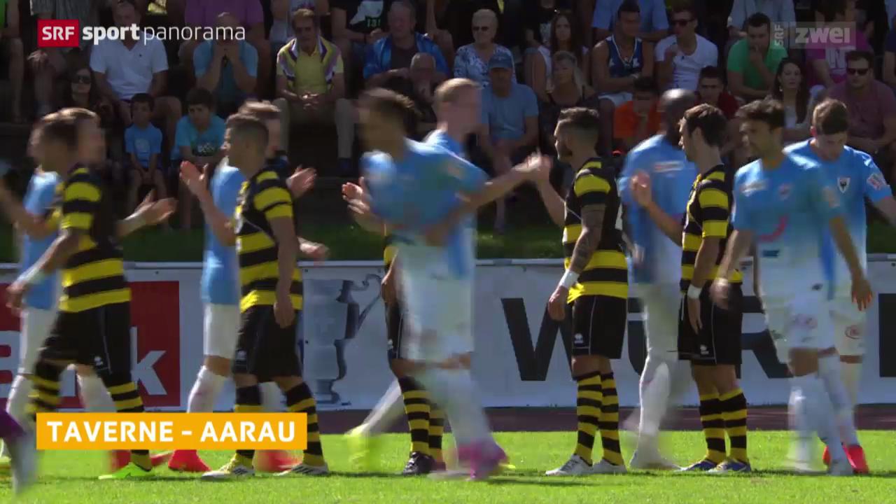 Fussball, Schweizer Cup: Taverne - Aarau