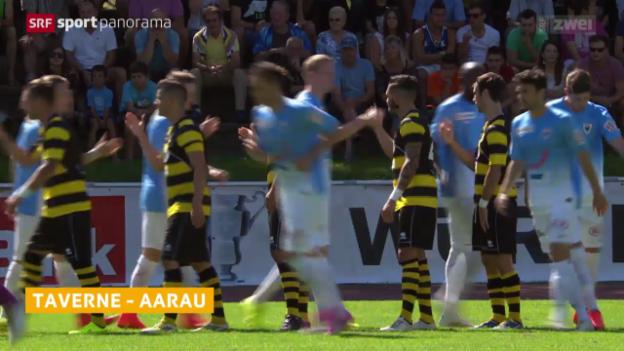 Video «Fussball, Schweizer Cup: Taverne - Aarau» abspielen