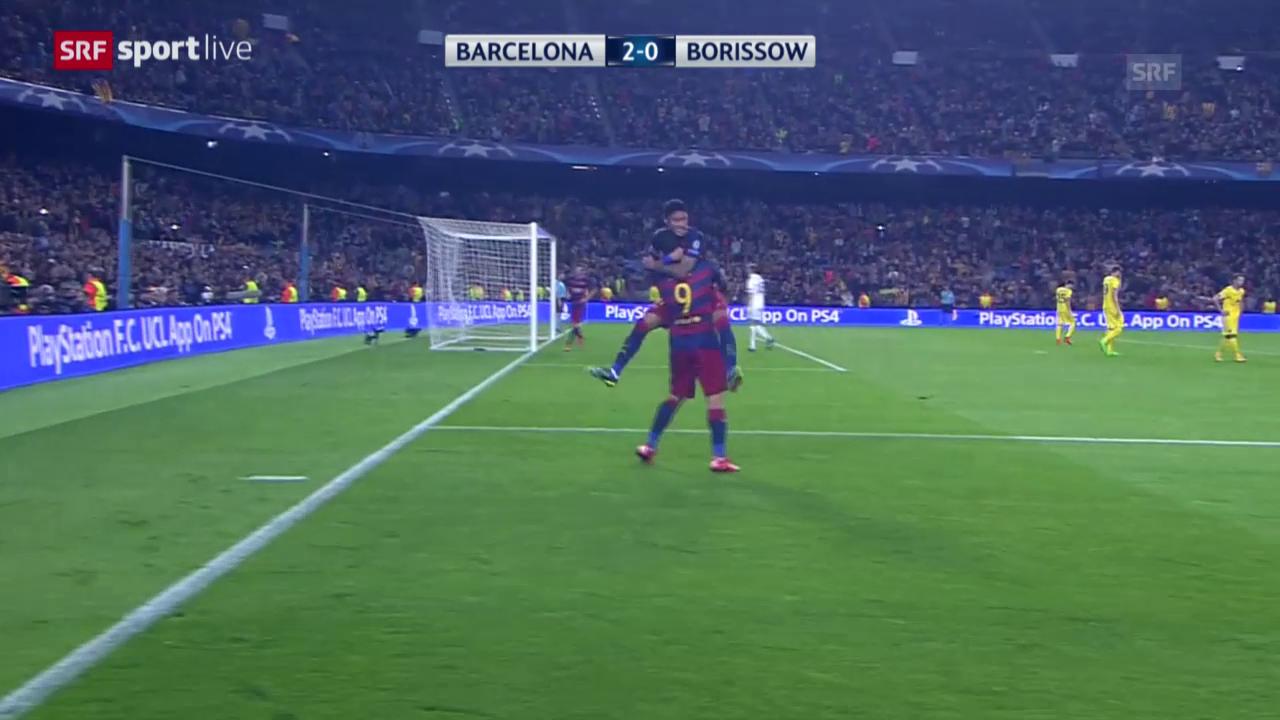 Fussball: Champions League, Zusammenfassung Barcelona - BATE Borissow