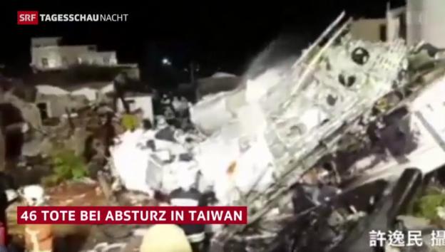 Video «Flugzeugabsturz auf Taiwan» abspielen