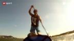 Video «Extremsport: Auf dem Surfbrett zum Atlantik» abspielen