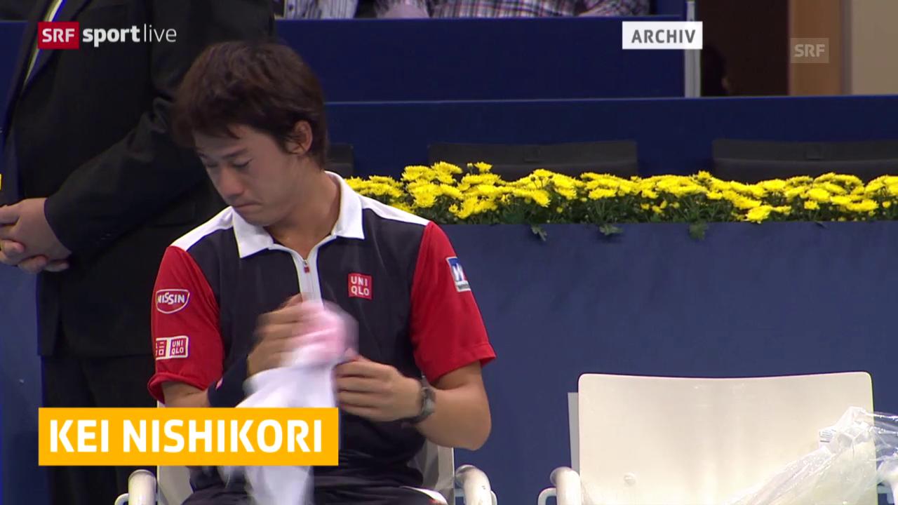Tennis: Kei Nishikori in Basel nicht mit dabeil