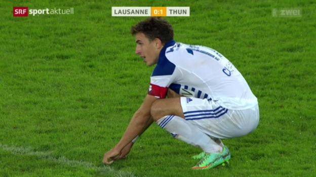 Video «Fussball: Cup, Lausanne - Thun» abspielen