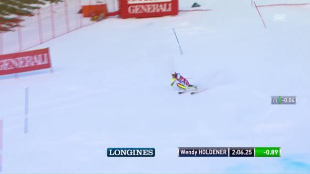 Video «Laufbestzeit: Holdener gibt im Slalom Gas» abspielen