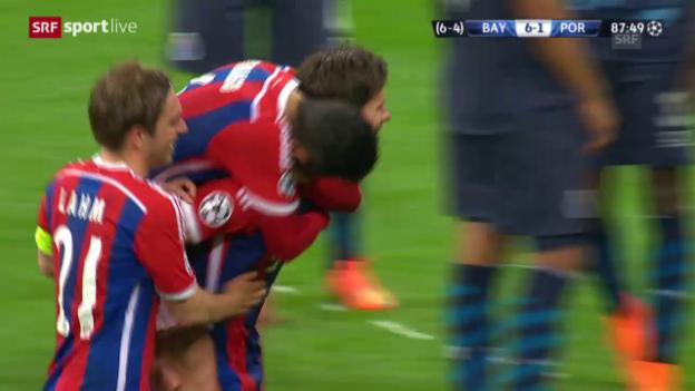 Video «Fussball: Champions League, Viertelfinal Rückspiel, Bayern-Porto, 6:1 Alonso» abspielen
