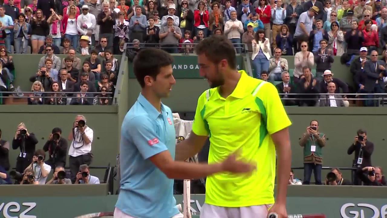 Tennis: French Open, Satz- und Matchbälle bei Djokovic - Cilic