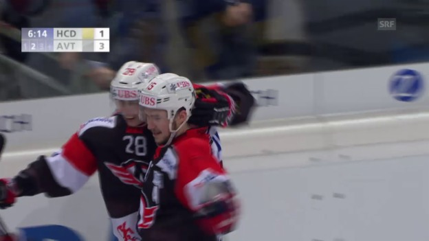 Video «Eishockey: Spengler Cup 2015, Davos-Jekaterinburg, 1:3 Jemelin» abspielen