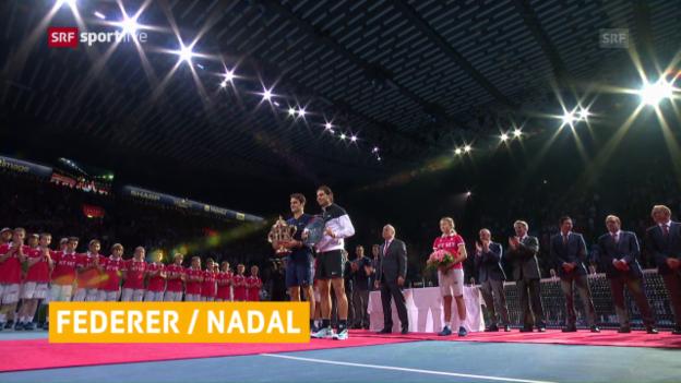 Video «Federer und Nadal spielen gemeinsam Doppel» abspielen