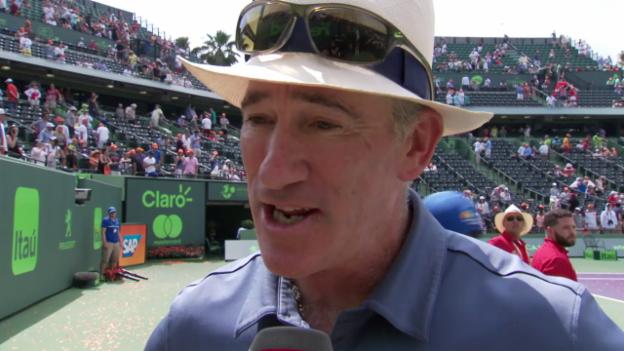 Video «Brad Gilbert: «Federer wusste, dass er gewinnen würde» (engl.)» abspielen