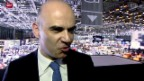 Video «Fokus: Bundesrat Alain Berset am Autosalon» abspielen