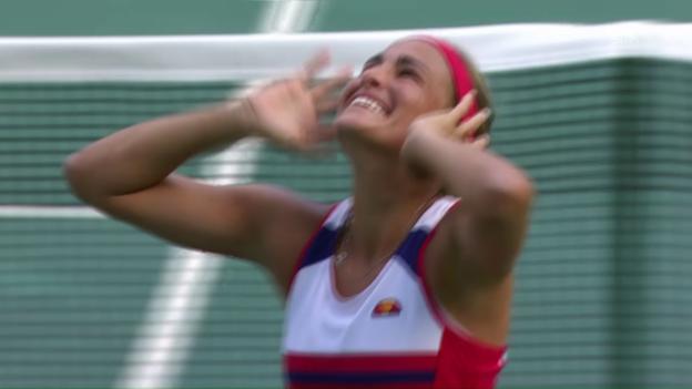 Video «Freude auf puerto-ricanisch: Finalistin Puig lässt sich feiern» abspielen