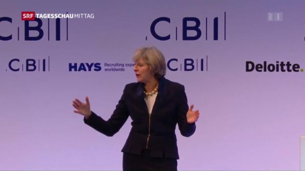Video «Mays Wirtschafts-Pläne nach dem Brexit» abspielen