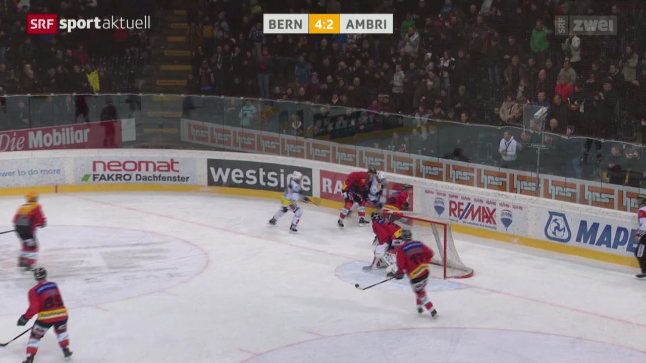 Eishockey: Bern - Ambri