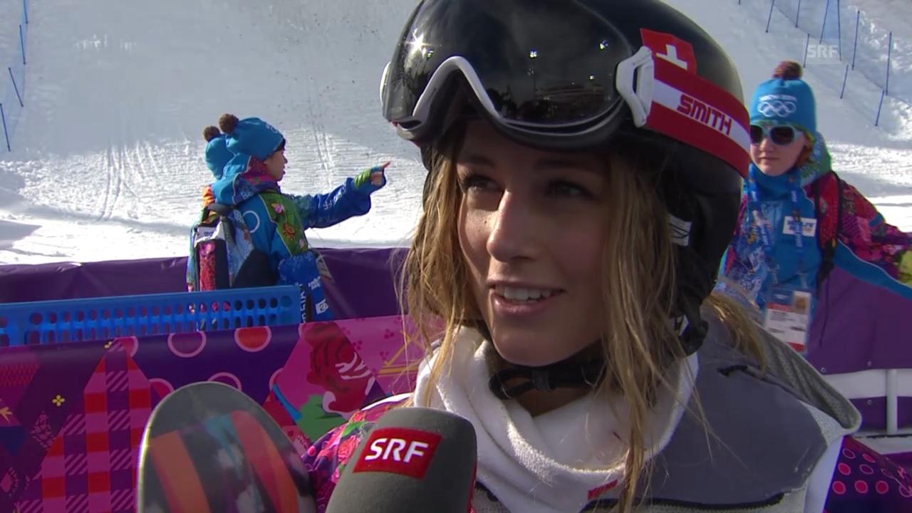 Snowboard: Halfpipe-Quali, Interview mit Nadja Purtschert (sotschi direkt, 12.02.2014)