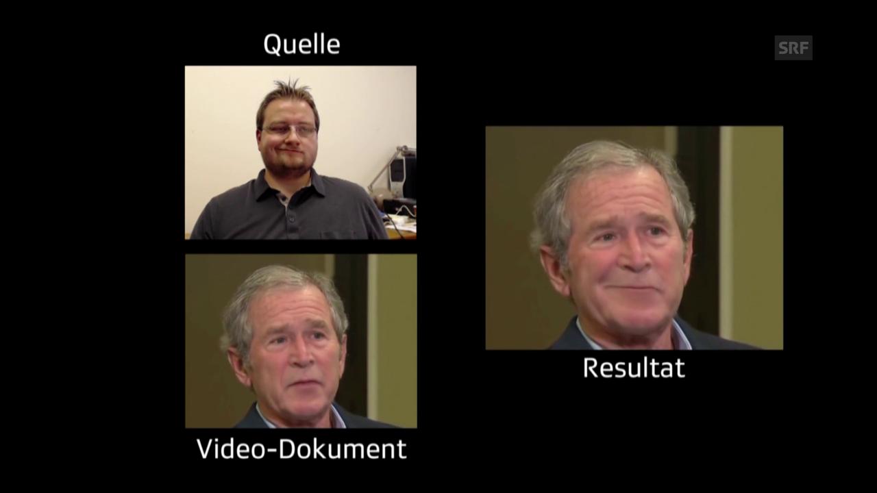 Bush als Mimik-Akrobat