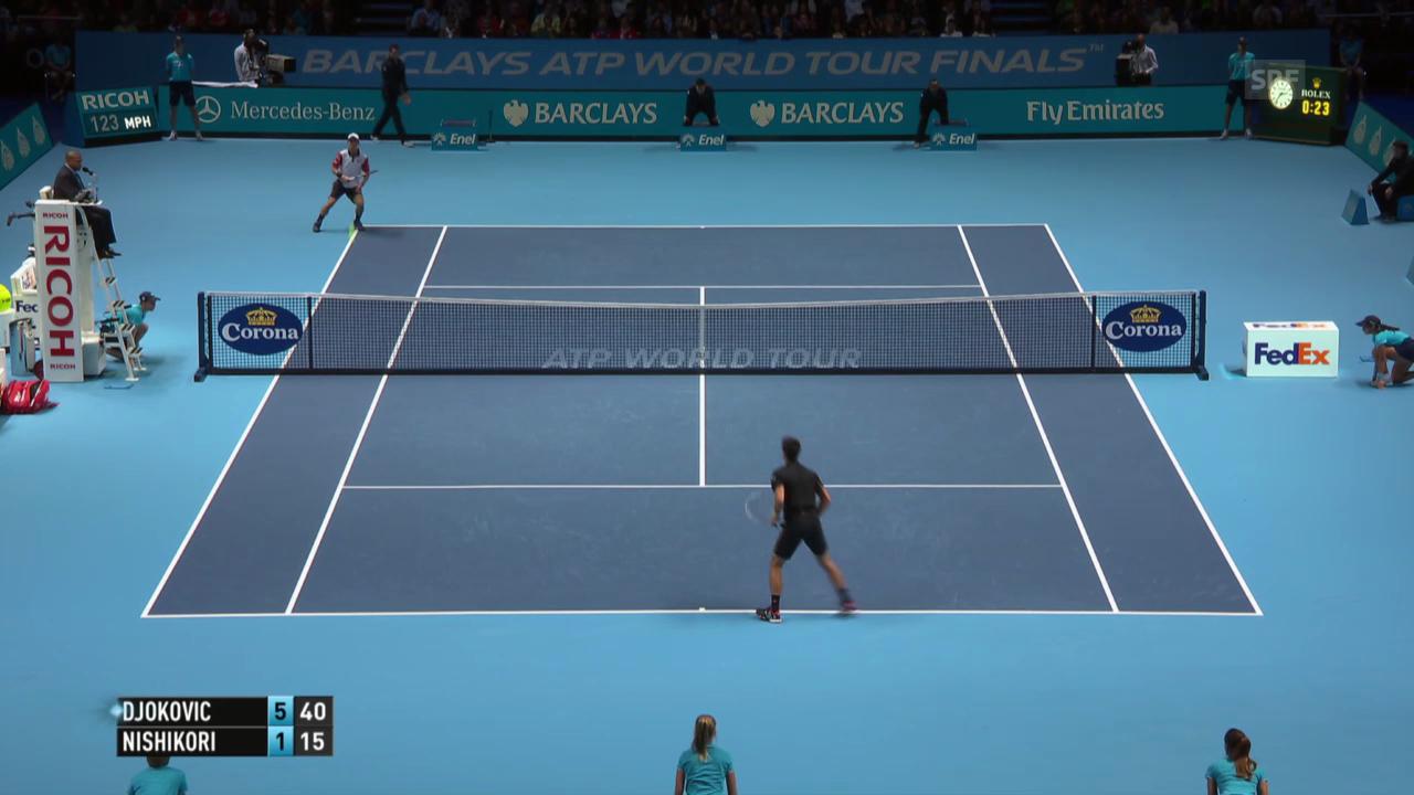 Tennis: Highlights Djokovic - Nishikori