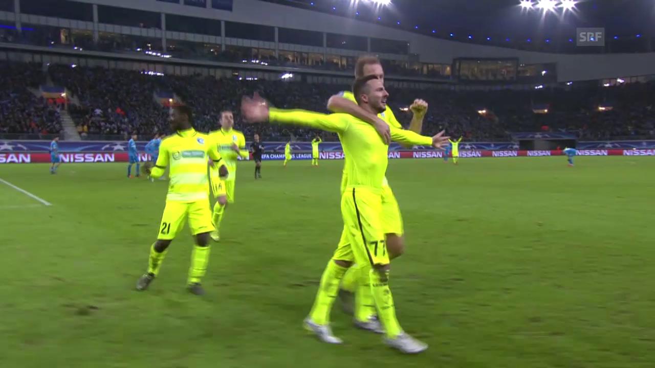 Fussball: Champions League 2015, 3 Tore von Danijel Milicevic